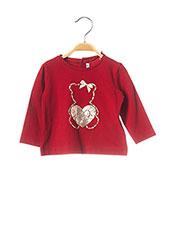T-shirt manches longues rouge MAYORAL pour fille seconde vue