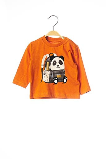 T-shirt manches longues orange MAYORAL pour garçon