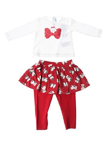 Top/pantalon rouge MAYORAL pour fille