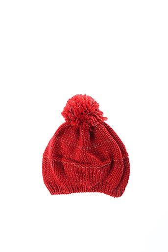 Bonnet rouge 3 POMMES pour fille
