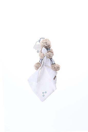 Doudou blanc ABSORBA pour enfant