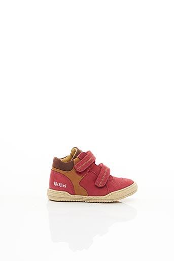 Baskets rouge KICKERS pour garçon