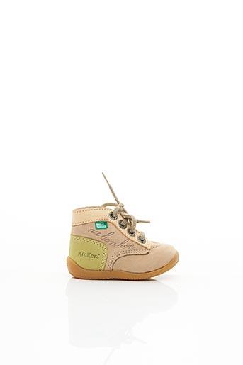 Bottines/Boots beige KICKERS pour garçon
