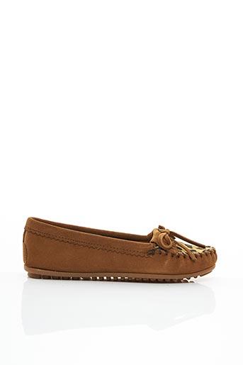 Chaussures bâteau marron MINNETONKA pour femme
