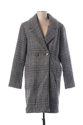 Manteau long gris B.YOUNG pour femme