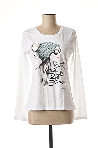 T-shirt manches longues blanc LIU JO pour femme