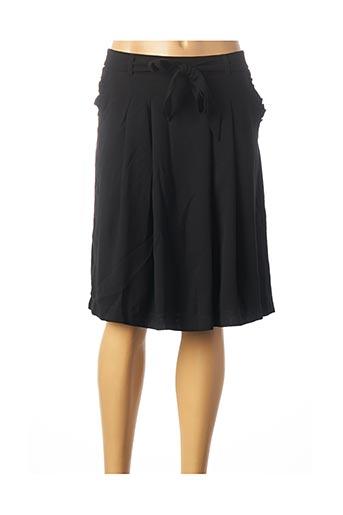 Jupe mi-longue noir KAFFE pour femme