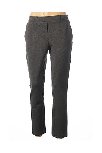 Pantalon casual gris MSCH COPENHAGEN pour femme