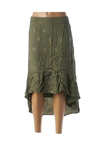 Jupe longue vert ALIX pour femme