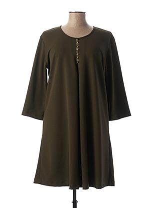 Robe mi-longue vert POUSSIERE D'ETOLE pour femme