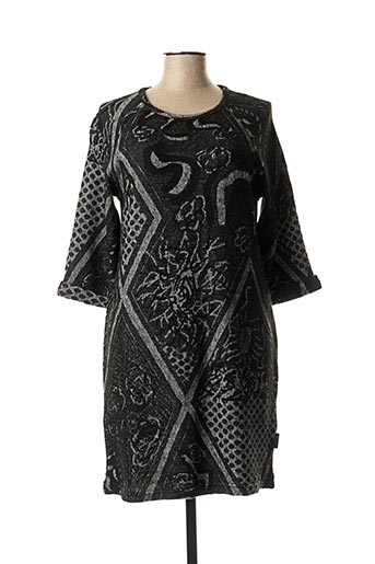 Robe pull noir CAPUCCINO pour femme