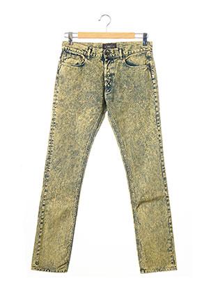 Jeans coupe droite jaune APRIL 77 pour homme