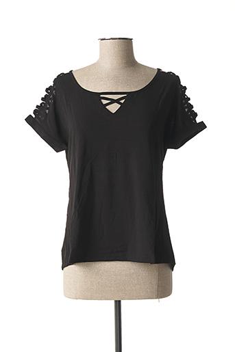T-shirt manches courtes noir L33 pour femme