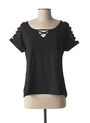 T-shirt manches courtes noir L33 pour femme seconde vue