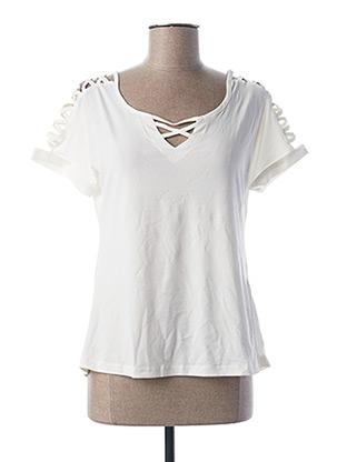 T-shirt manches courtes blanc L33 pour femme