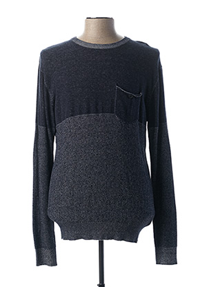 Pull col rond bleu EBOUND pour homme
