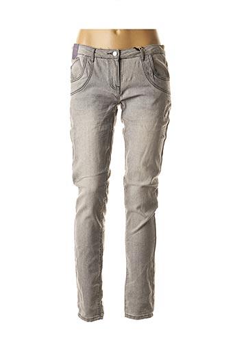 Jeans coupe slim gris EMOI BY EMONITE pour femme