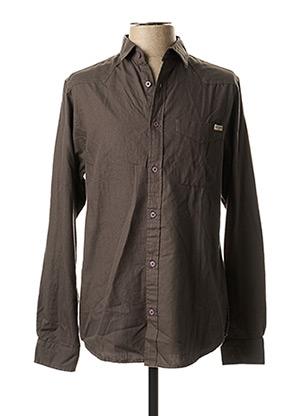 Chemise manches longues gris EBOUND pour homme