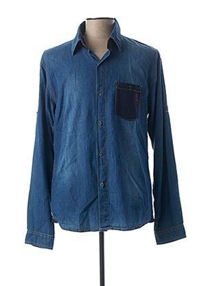 Chemise manches longues bleu OAKS VALLEY pour homme