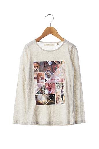 T-shirt manches longues beige EMOI BY EMONITE pour fille