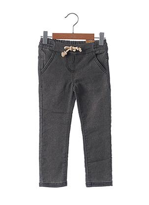 Jeans coupe slim gris LEMON BERET pour fille