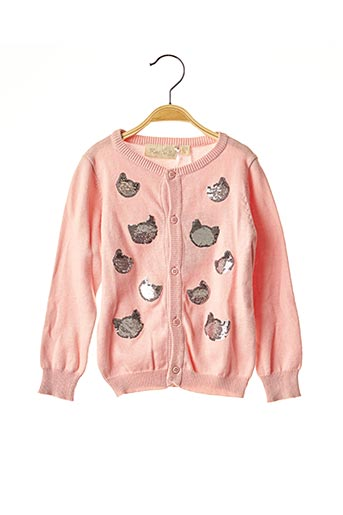 Gilet manches longues rose KNOT SO BAD pour fille