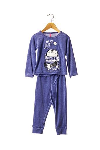 Pyjama violet LINA PINK pour fille