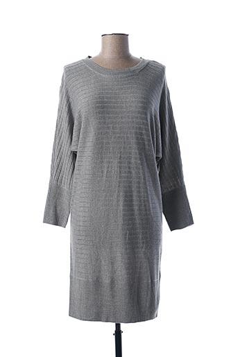 Robe pull gris JACQUELINE DE YONG pour femme