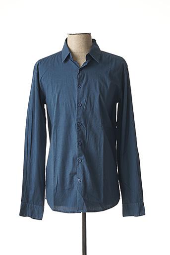 Chemise manches longues bleu BACK LIGHT pour homme