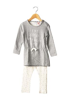 Pyjama gris LEMON BERET pour fille