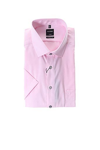 Chemise manches courtes rose OLYMP pour homme