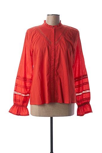 T-shirt manches longues rouge CREAM pour femme