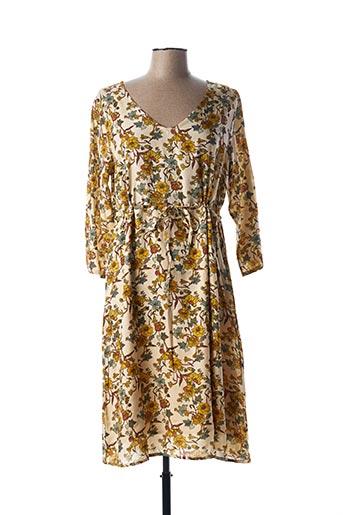 Robe mi-longue beige CREAM pour femme