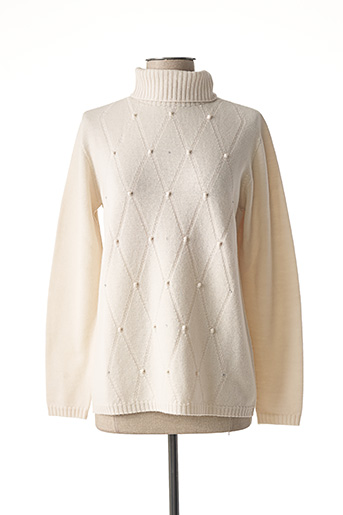 Pull col roulé beige WEINBERG pour femme