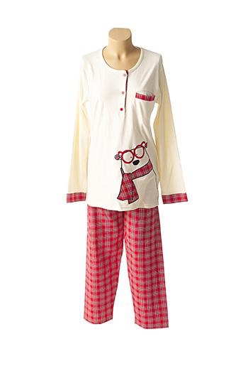 Pyjama rouge ROSE POMME pour femme