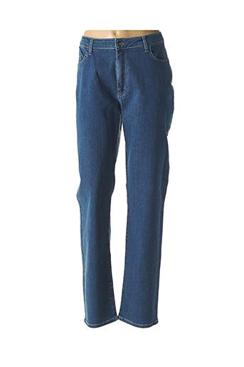 Jeans coupe droite bleu GUY DUBOUIS pour femme