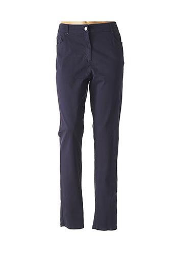 Pantalon casual bleu PAUSE CAFE pour femme