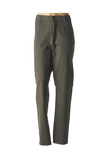 Pantalon casual vert GEVANA pour femme