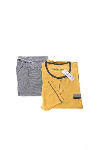 Pyjama jaune CHRISTIAN CANE pour homme
