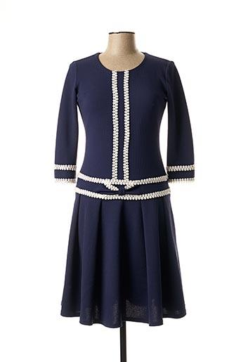 Robe mi-longue bleu ELÉGANCE MISS pour femme
