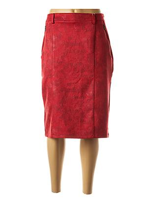 Jupe mi-longue rouge GEVANA pour femme