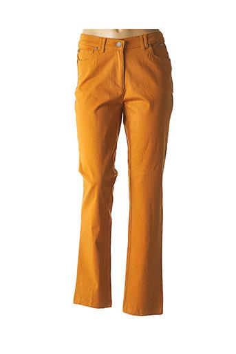 Jeans coupe droite jaune AGATHE & LOUISE pour femme