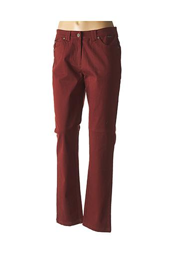 Jeans coupe droite marron AGATHE & LOUISE pour femme