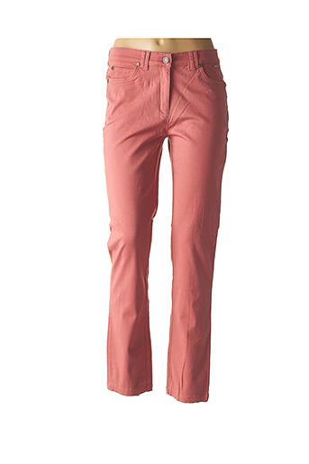 Jeans coupe droite rose AGATHE & LOUISE pour femme