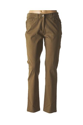 Jeans coupe droite vert AGATHE & LOUISE pour femme