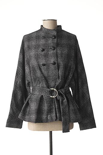 Manteau court gris AGATHE & LOUISE pour femme
