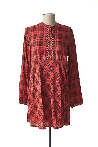 Robe courte rouge AGATHE & LOUISE pour femme