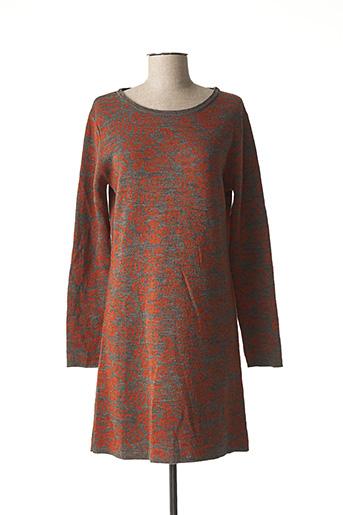Robe pull marron L'ATELIER D'ANNA pour femme
