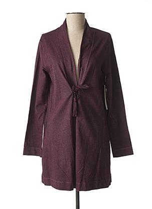 Gilet manches longues violet AGATHE & LOUISE pour femme