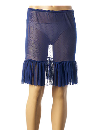 Jupon /Fond de robe bleu MALOKA pour femme
